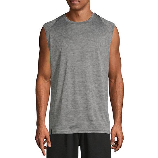 Spalding Mens Crew Neck Sleeveless Moisture Wicking T-Shirt