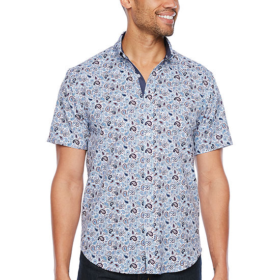 Society Of Threads Performance Stretch Paisley Print Shirt
