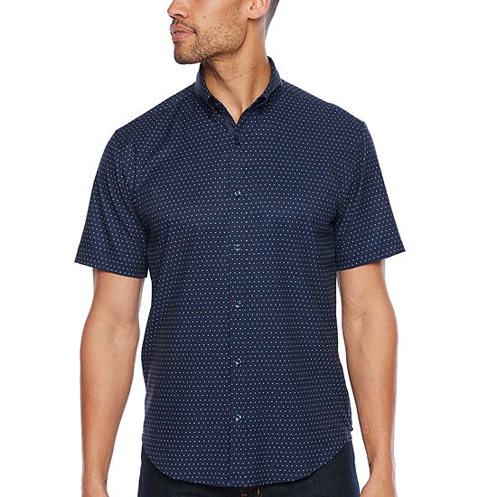 Society Of Threads Performance Stretch Dot Print Shirt