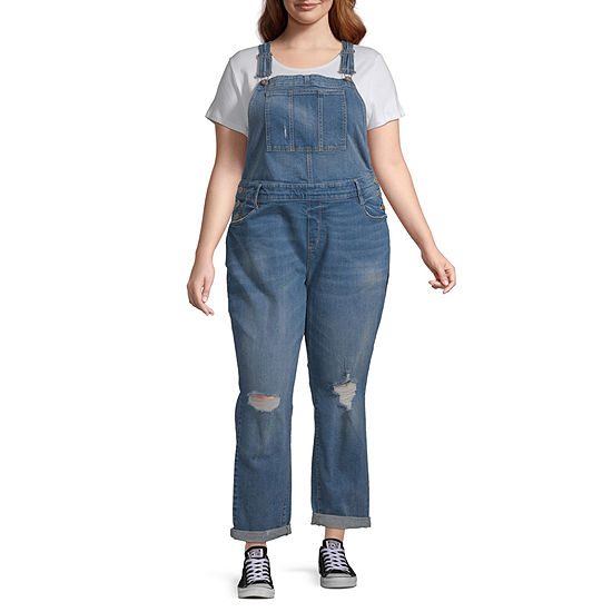 Arizona Sleeveless Overalls-Juniors Plus
