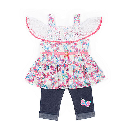 Little Lass-Baby Girls 2-pc. Legging Set