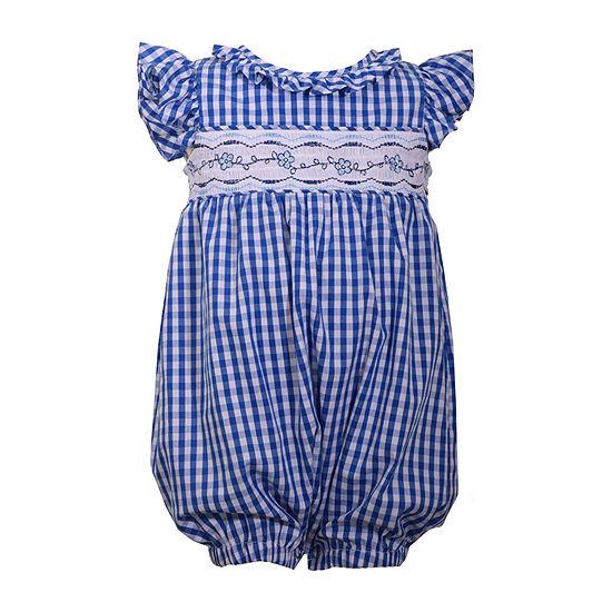 Bonnie Jean Sleeveless Romper Baby Girls