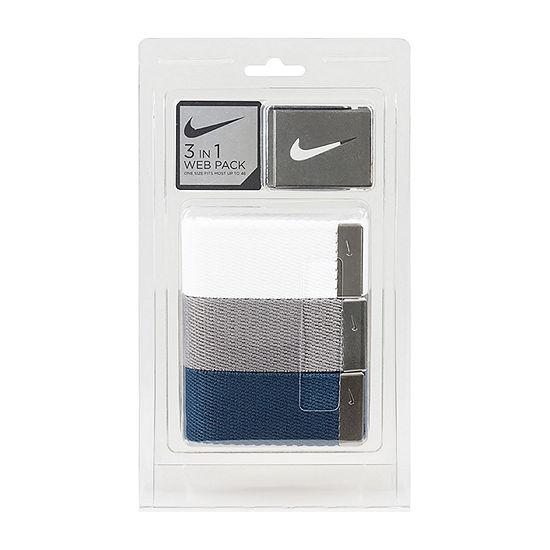 Nike® 3 Pack Webbing Belt