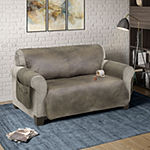 Serta No Slip Faux Leather With Neverwet Loveseat Protector