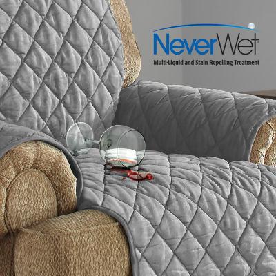 Serta Microsuede Ultra Waterproof With Neverwet Chair Protector