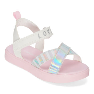 Carter's Toddler Girls Sierra                        Adjustable Strap Flat Sandals