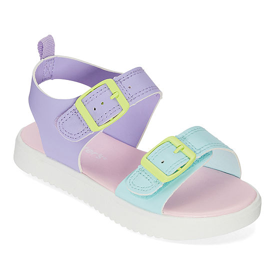 Carter's Toddler Girls Nahara                        Adjustable Strap Flat Sandals