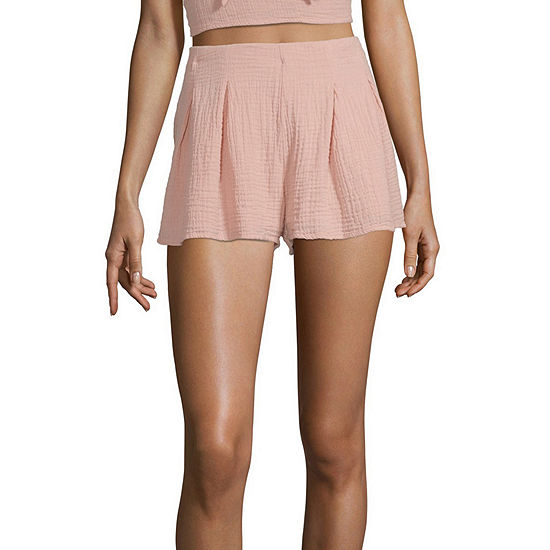 Arizona Womens Mid Rise Pull-On Short-Juniors