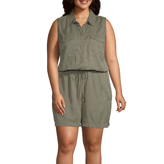 a.n.a Sleeveless Romper-Plus