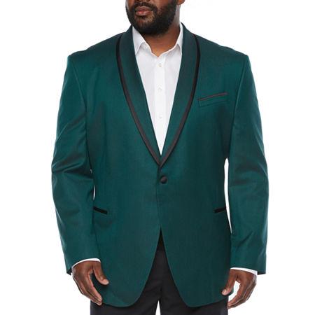 1970s Men's Suits History | Sport Coats & Tuxedos JF J.Ferrar Evening Edition Mens Stretch Regular Fit Sport Coat - Big and Tall 60 Big Long Green $71.99 AT vintagedancer.com