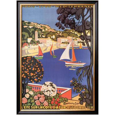 Art.com Cote d'Azur Framed Print Wall Art