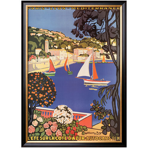 Art.com Cote d'Azur Framed Print Wall Art