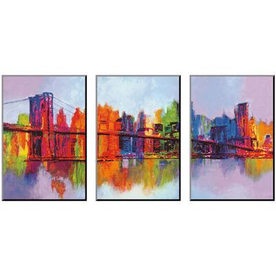 Art.com Abstract Manhattan Print Wall Art