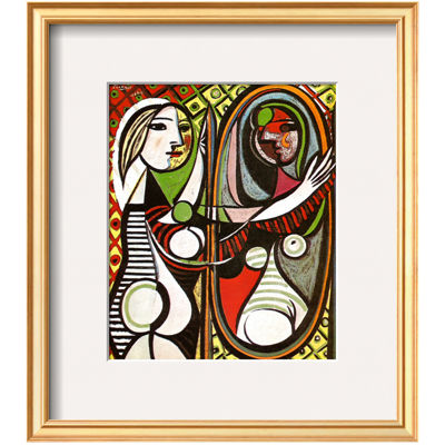 elements of art girl before a mirror