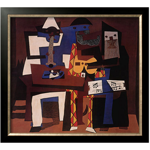 Three Musicians, c.1921 Framed Print Wall Art