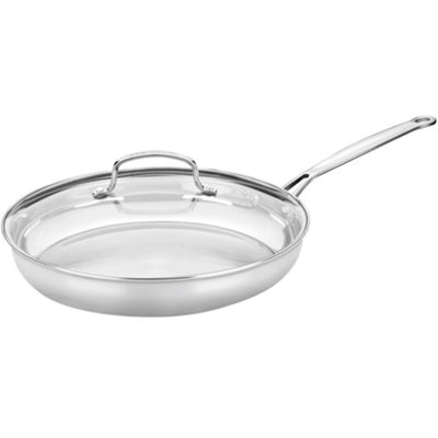 "Cuisinart® Chef's Classic 12"" Stainless Steel Skillet with Glass Lid"