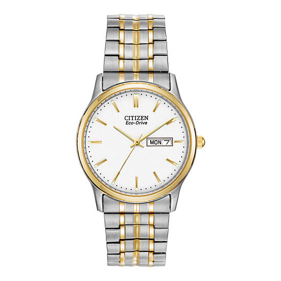Citizen Corso Mens Two Tone Bracelet Watch-Bm8454-93a