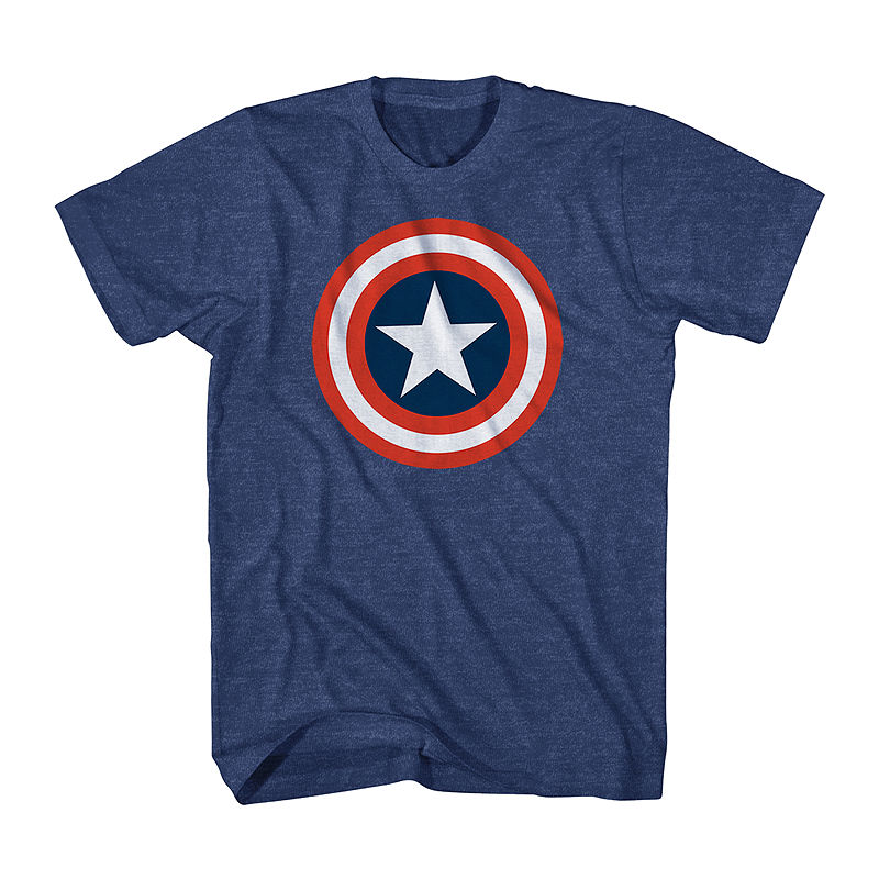 Marvel Captain America Shield Graphic Tee plus size,  plus size fashion plus size appare