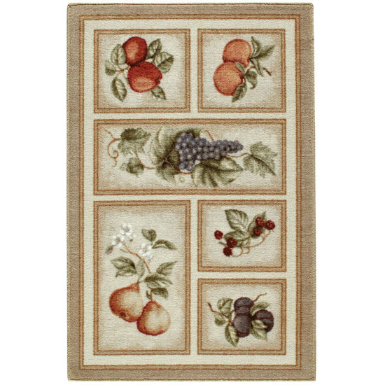 Fresh Fruit Washable Rectangular Rugs
