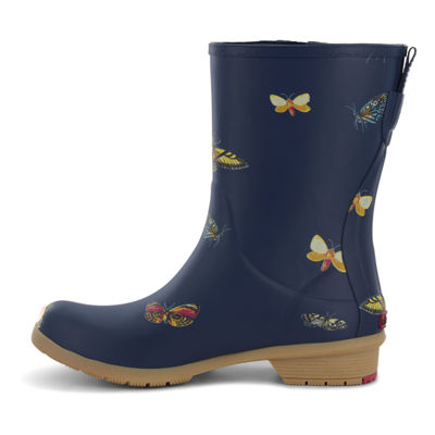Chooka Fashion Womens Butterfly Rain Boots Waterproof Pull-on