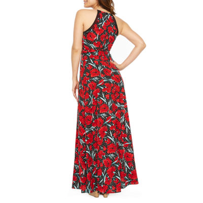 Premier Amour Sleeveless Pattern Maxi Dress