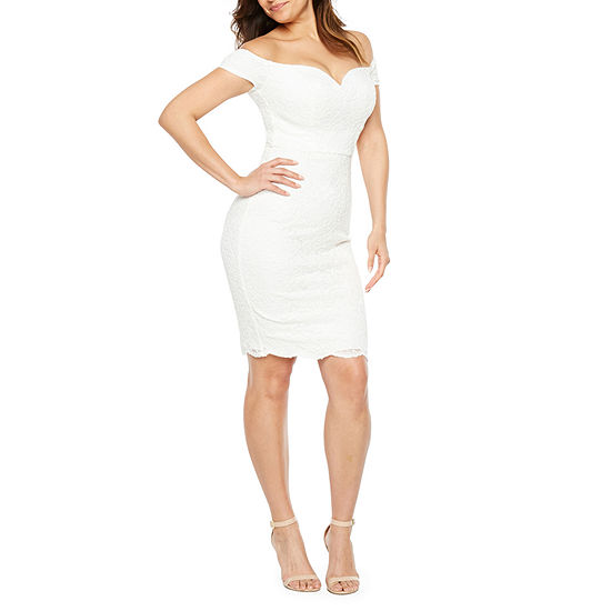 Premier Amour Short Sleeve Sheath Dress