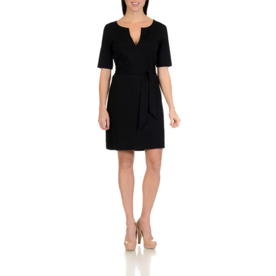 Harve Benard V Neck Ponte Dress