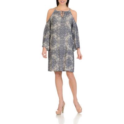 Harve Benard V Neck Ponte Dress