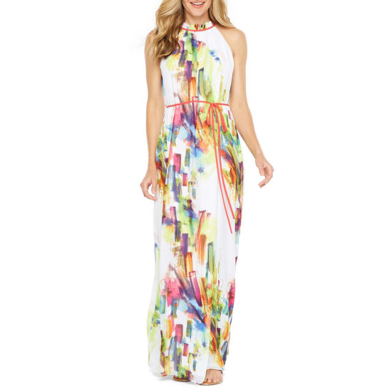 Be by CHETTA B Sleeveless Abstract Maxi Dress