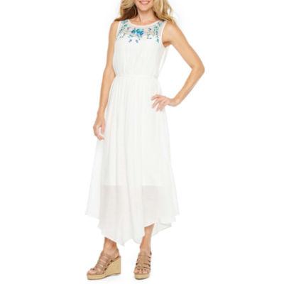 Alyx Sleeveless Embroidered Maxi Dress
