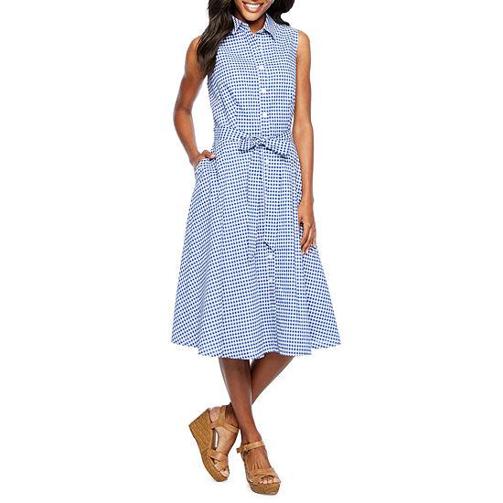 BE BY CHETTA B Sleeveless Shirt Dress