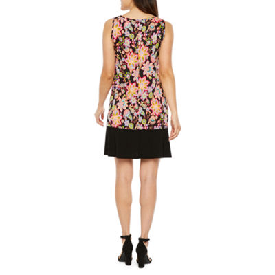 Ronni Nicole Sleeveless Floral A-Line Dress