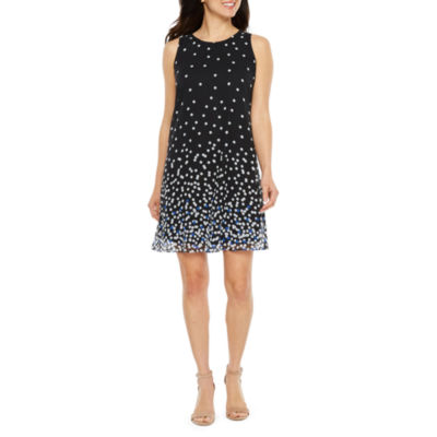 Studio 1 Sleeveless Dots A-Line Dress