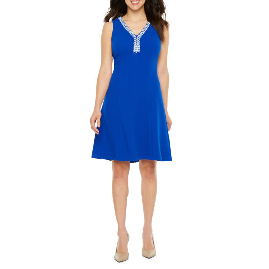 Ronni Nicole Sleeveless Embellished Fit & Flare Dress