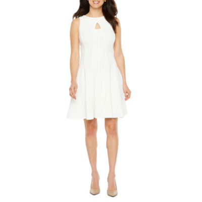 Danny & Nicole Sleeveless Fit & Flare Dress