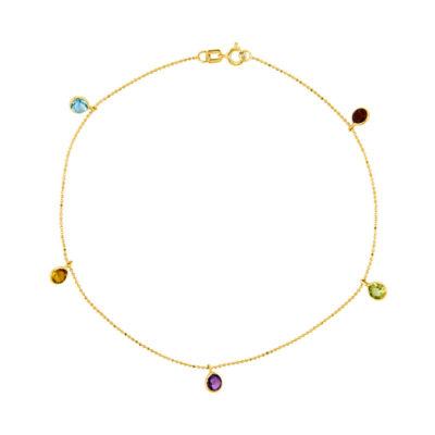14K Gold 9 Inch Round Ankle Bracelet
