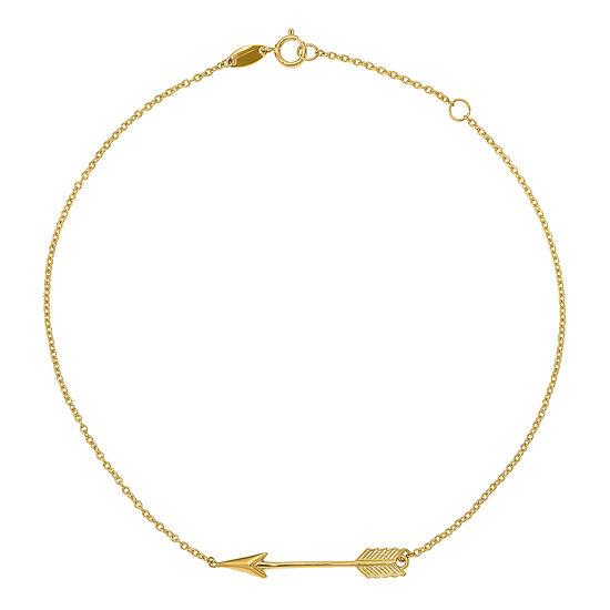 14K Gold 9 Inch Solid Ankle Bracelet