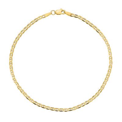 14K Gold 10 Inch Solid Anchor Ankle Bracelet
