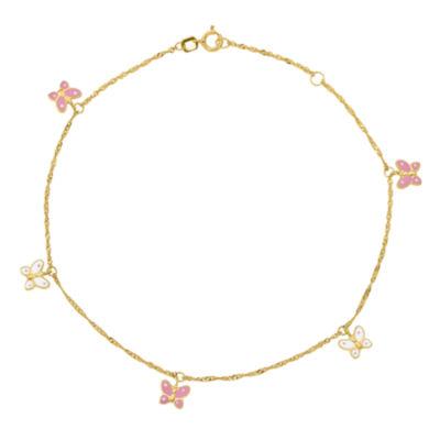 14K Gold 10 Inch Solid Ankle Bracelet