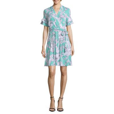 Liz Claiborne Ruffle Wrap Dress - Tall