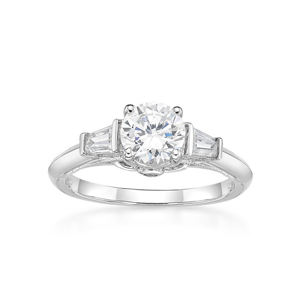 Fine Jewelry Diamonart Womens 1 7/8 Ct. T.W. White Cubic Zirconia 14K Gold Over Silver Cocktail Ring SLL60jF0jQ