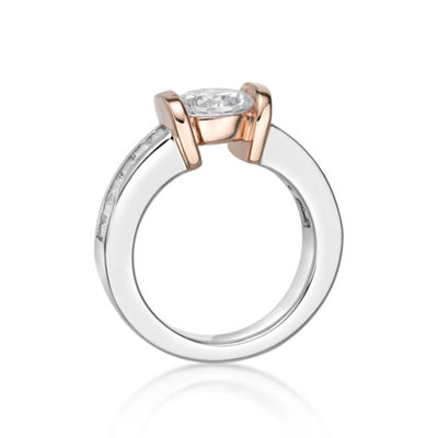 Diamonart Womens 1 7/8 CT. T.W. White Cubic Zirconia 14K Gold Over Silver Cocktail Ring
