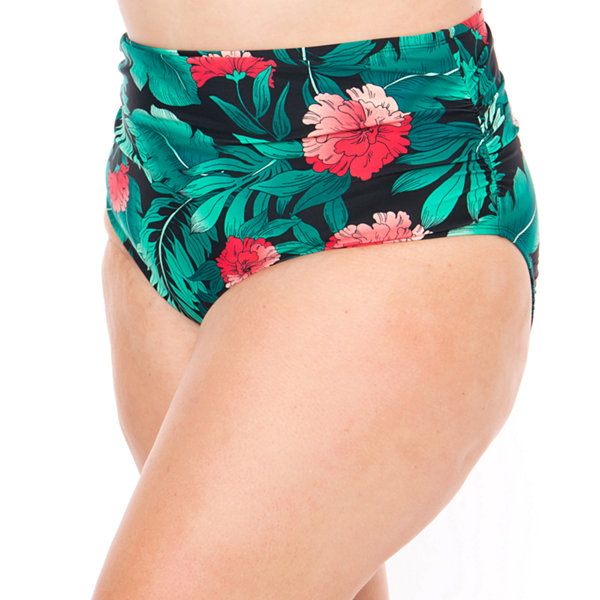 Boutique + Brief Swimsuit Bottom-Plus