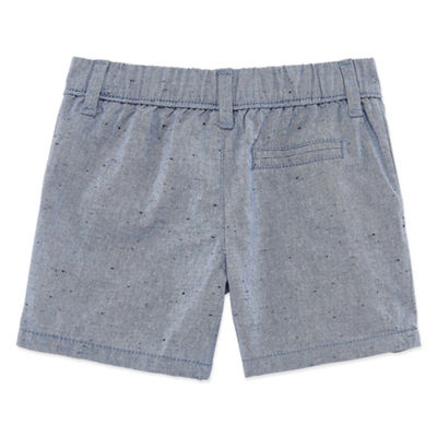 Okie Dokie Flat Front Pull-On Shorts - Baby Boy NB-24M