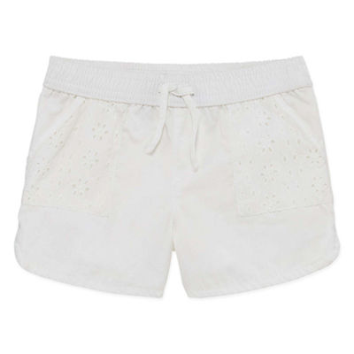 Okie Dokie Lace Pull-On Short - Baby Girl NB-24M