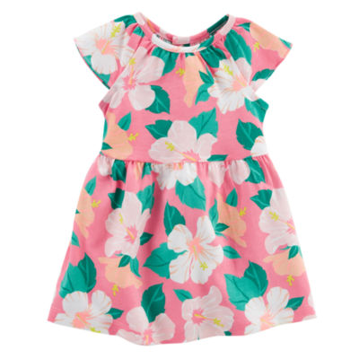 Carters Floral Short Sleeve Fit & Flare Dress - Baby Girl NB-24M