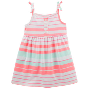 Carters Pink & White Stripe Fit & Flare Dress - Baby Girls NB-24M