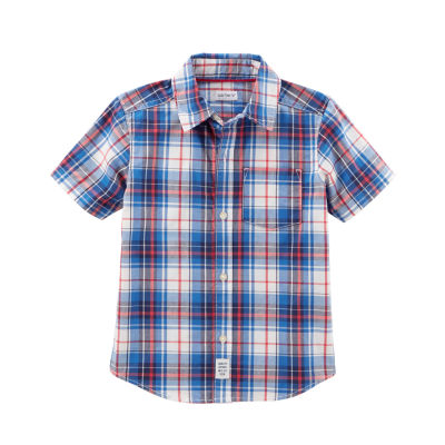Carter's Plaid Short Sleeve Woven Shirt - Preschool Boys