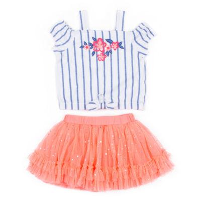 Little Lass 2-pack Skirt Set Toddler Girls
