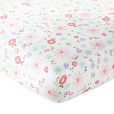 Okie Dokie Floral Crib Sheet - Baby Girl